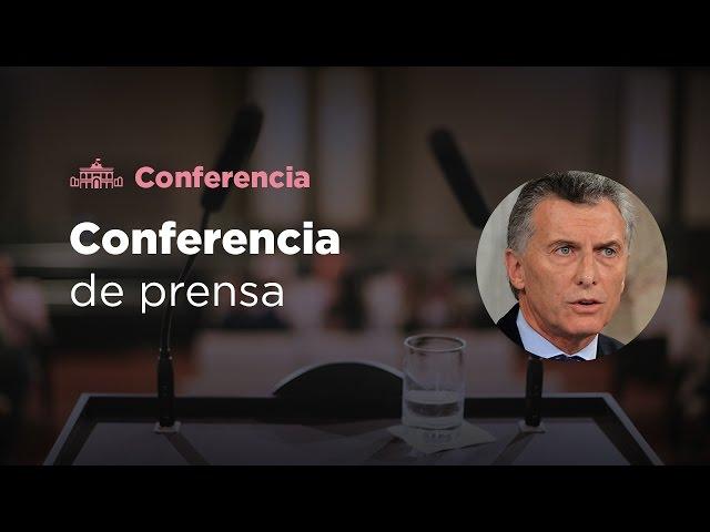 El presidente Mauricio Macri brindó una conferencia de prensa