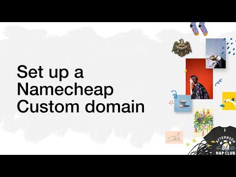 Set up a Namecheap custom domain for your Big Cartel shop