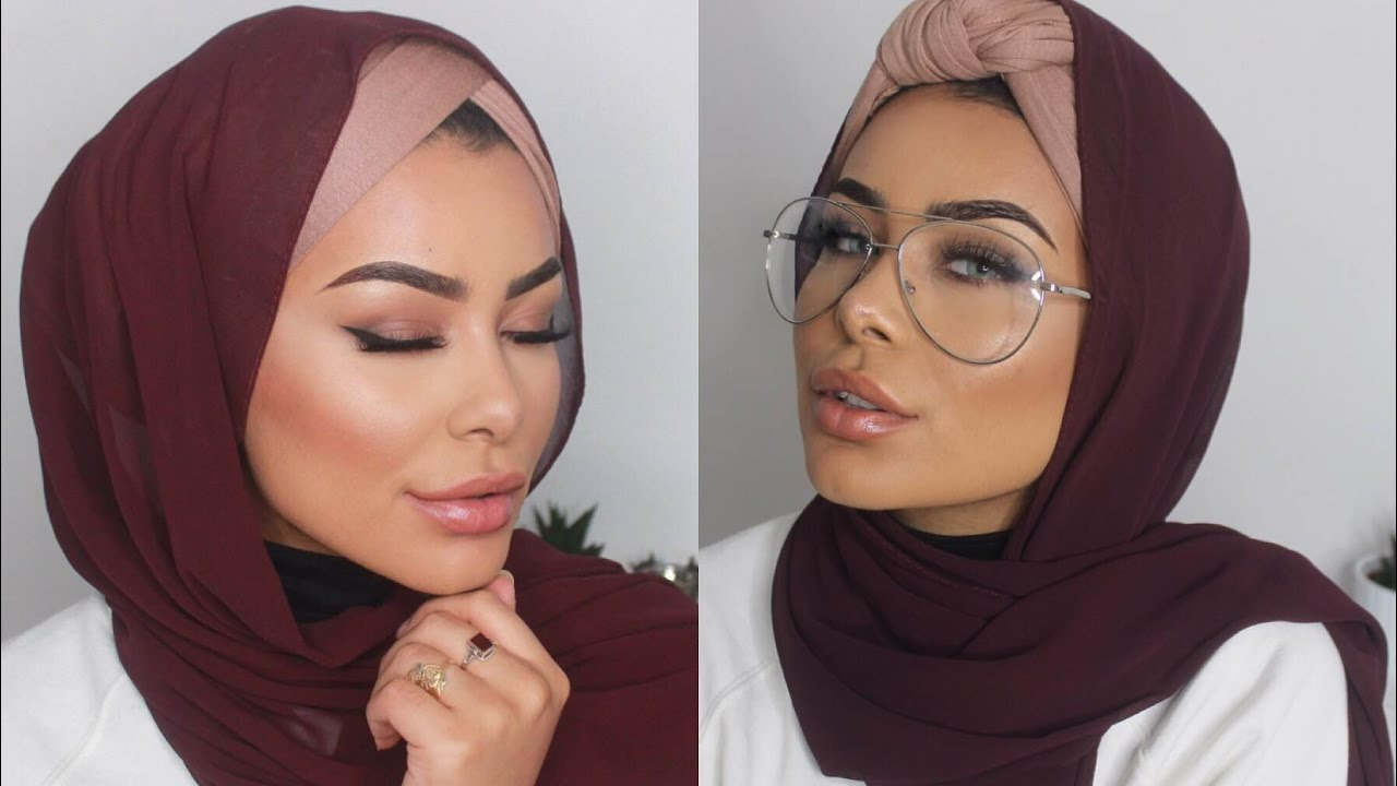 Two Turban W Coverage Hijab Styles Easy Hijab Tutorial Youtube