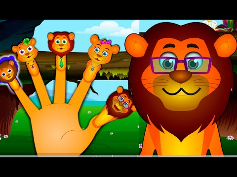 Lion Finger Family
