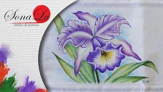 Orquídea em Tecido