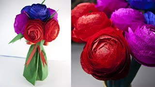 How To Make a Paper Flower- Home Decoration - Paper Craft - Bridal Bouquet