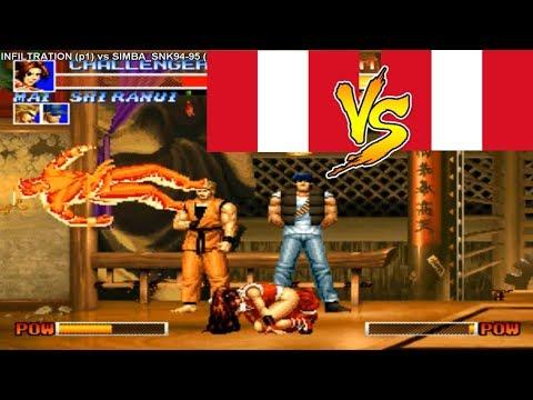 KoF 95 ➤ INFILTRATION Vs SIMBA SNK Rematch ➤ Fightcade Emulator, Kof95.zip, Kof95 Rom