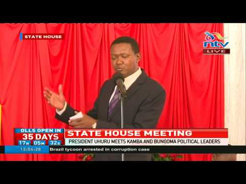 Governor Alfred Mutua says Ukambani leaders will campaign for President Uhuru Kenyatta