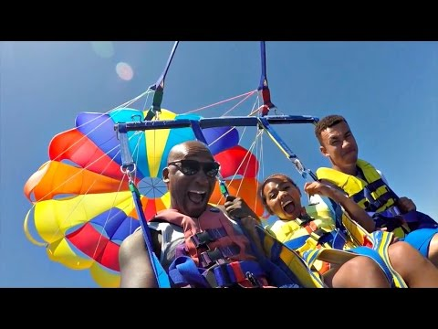 Thumbnail: Family Extreme Parasailing Challenge!! Toys AndMe