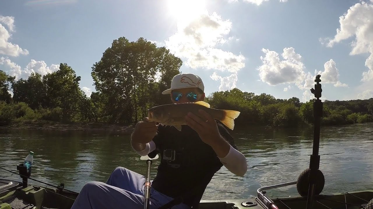 Bass fishing on the james river mo youtube for James river fishing report