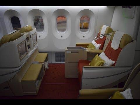 Mit der Air India 787 Business von London nach Delhi