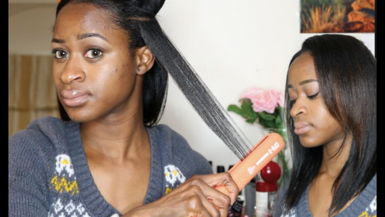 Evalectric Cfs 8 Ceramic Flat Iron Demo Review On Relaxed Hair You