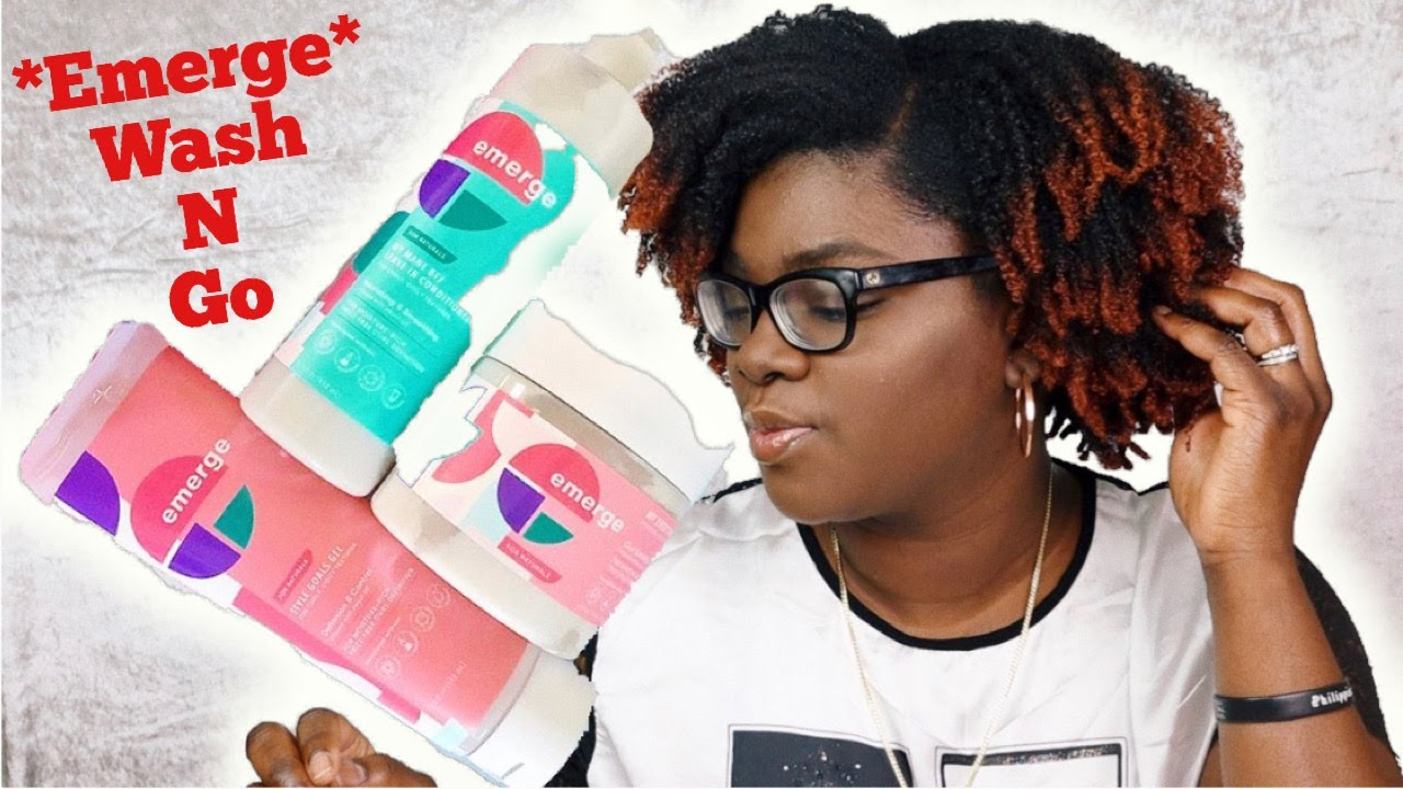 New Emerge Haircare Collection For Natural Hair 4b 4c Natural Hair Wash N Go Emerge Review Youtube