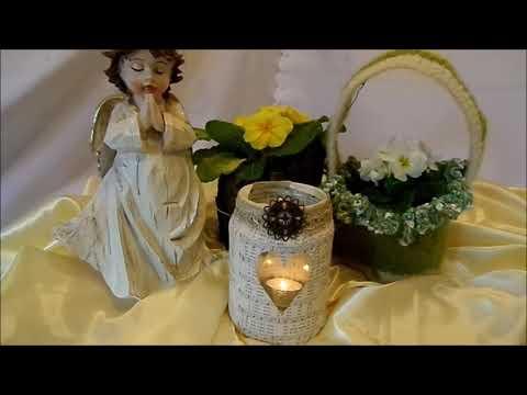 DIY: Edles Windlicht ,Vase,Kerzen DEKO basteln;...für 10 Cent