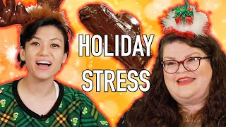 Kristin And Jen Compete to Bake The Best Yule Log Cake | Kitchen & Jorn