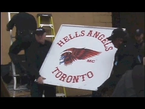 Police take down Hells Angels clubhouse with battering ram