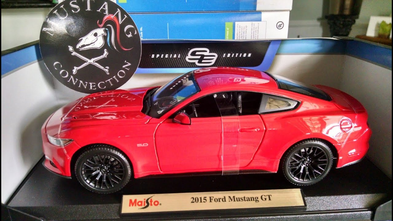 Ford F150 Shelby >> 2015 Mustang GT Maisto 1:18 Scale Model Drawing Winner and Unboxing - YouTube