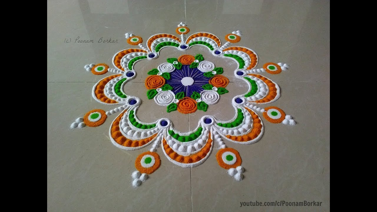 Rangoli designs for Independence day pics