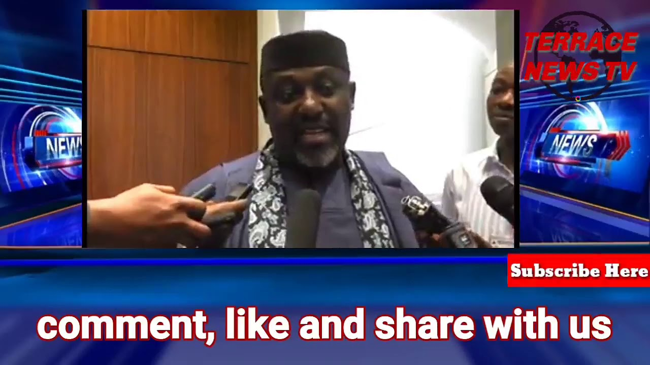 Breaking News:Buhari has met with Imo state governor, Rochas  Okorocha-Certificate of Return