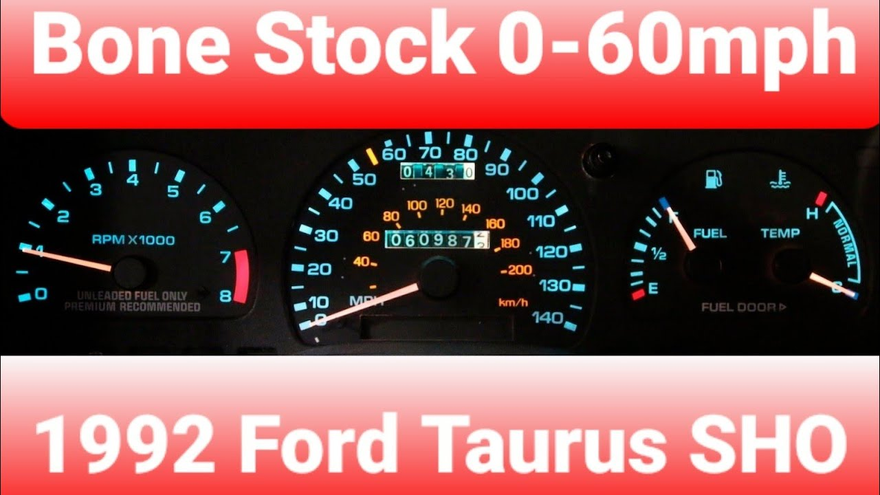 1992 Ford Taurus SHO 0 60