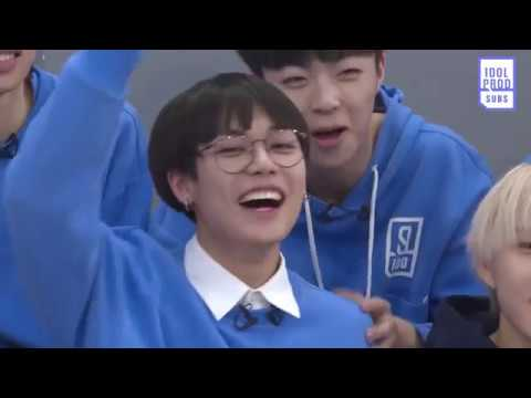 [ENG] Idol Producer EP10 Behind the Scenes: Trainees play a lot of Charades