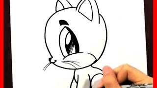 How to Draw a Cartoon Cat - How to Draw Easy Things Animals - Fun2draw Drawing channel