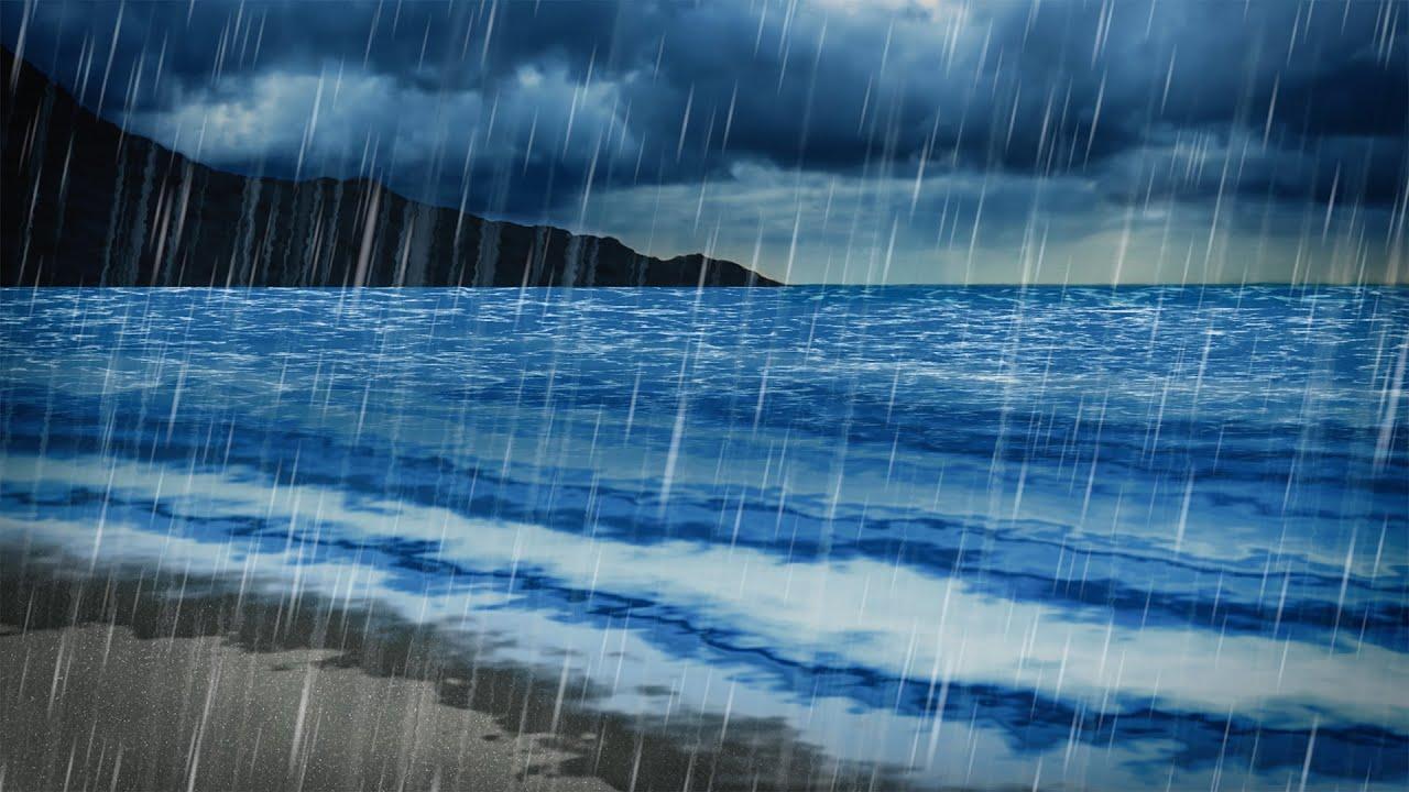 Rain Amp Ocean Sounds Sleep Study Focus 10 Hours White