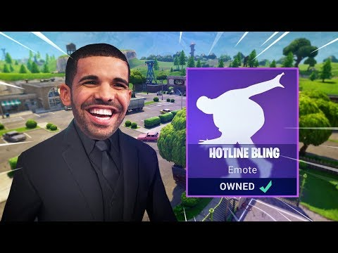 "DRAKE ""HOTLINE BLING"" EMOTE - Fortnite: Battle Royale"