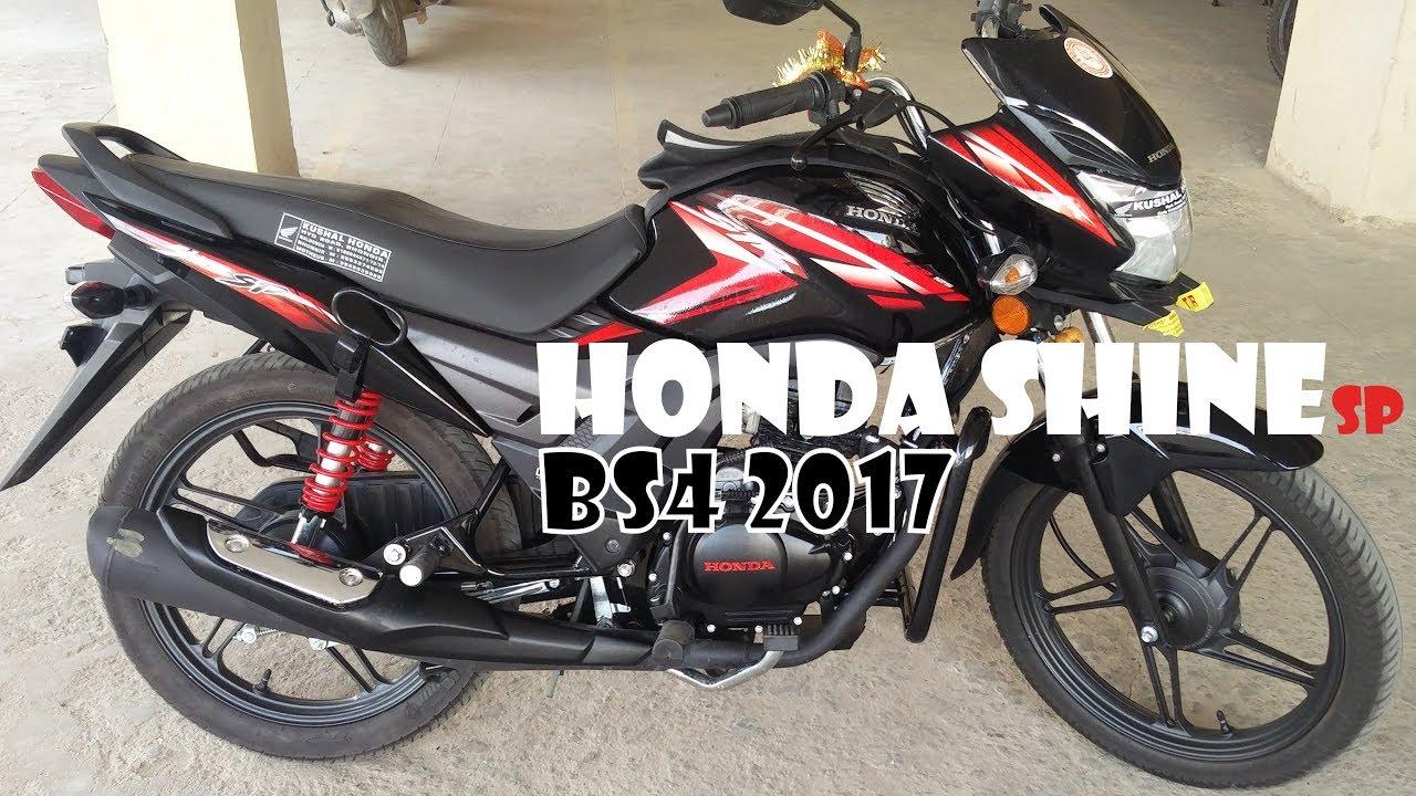 Honda Shine Sp Bs4 2017 Walkaround Black Color Youtube