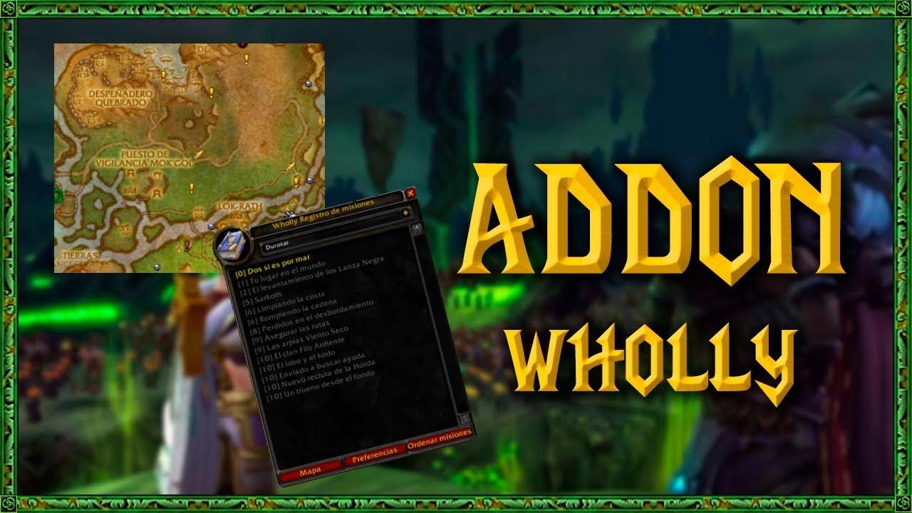 WHOLLY - GUIA ADDON World of Warcraft WoW