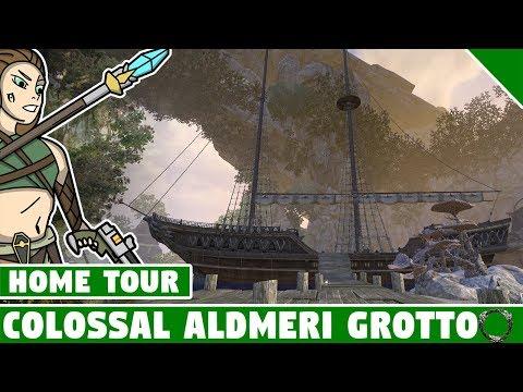 Colossal Almderi Grotto Tour! ESO Summerset Home! Elder Scrolls Online