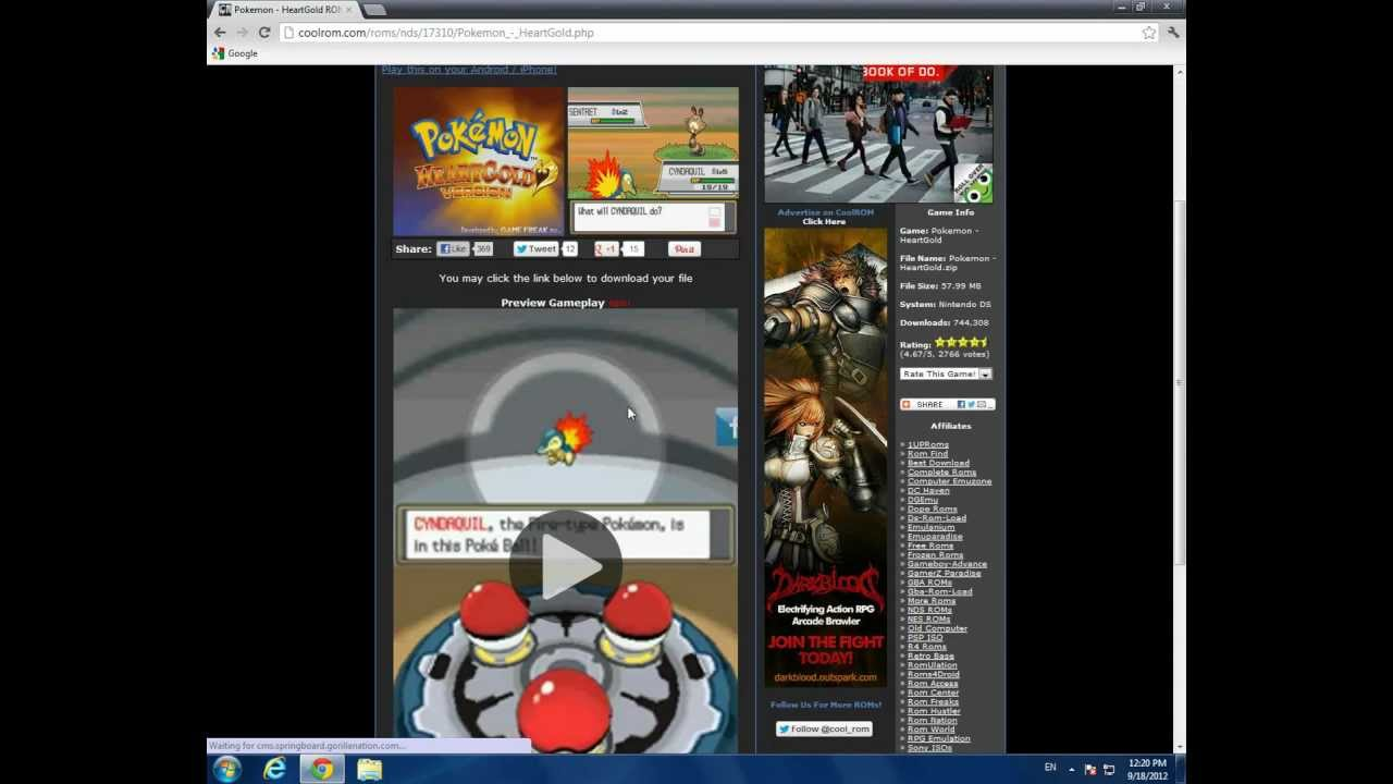 Pokemon Gold - Play Game Online