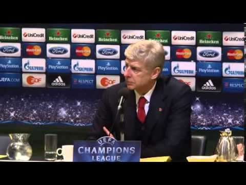 Arsene Wenger Post Match Press Conference - Borussia Dortmund 0 Arsenal 1 2013