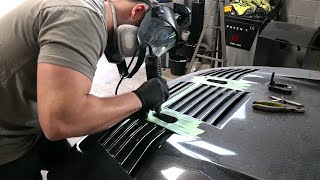 Cutting up a Brand New Hood on My Salvage Nissan GT-R Rebuild
