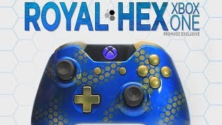 Royal Hex, Custom Xbox One and PS4 controllers Hand Airbrushed by ProModz.com