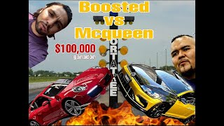 Boosted vs Thanos el dios // Porsche carrera S vs Golf mk7.5 R