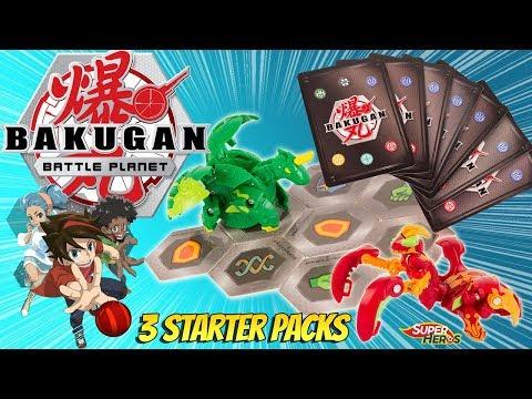 Bakugan Battle Planet J'ouvre 3 Starter Packs Comment Jouer