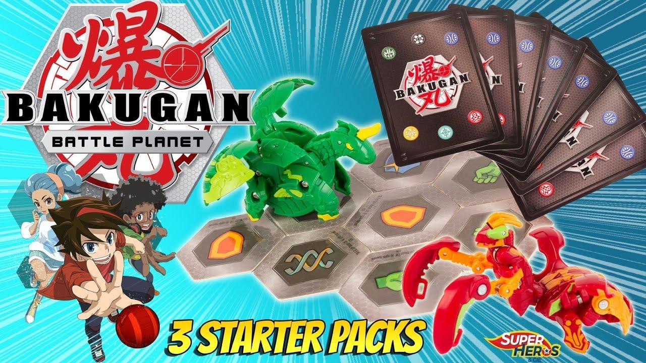 Bakugan Battle Planet J'ouvre 3 Starter Packs Comment Jouer Battle Brawlers  Jeu Spin Master Gulli