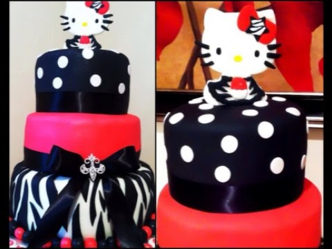 Hello Kitty Diva Fondant Birthday Cake YouTube