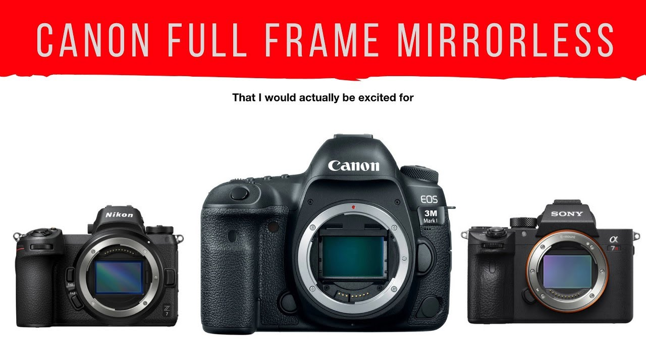 The Canon Full Frame Announcement I would actually be EXCITED FOR ...