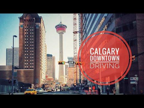 Driving Downtown-Calgary, Alberta, Canada