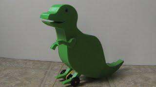 3D Printed Dinosaur Pull Toy