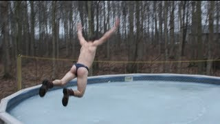FAIL - BELLY FLOP on Iced Pool (ORIGINAL)