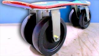 CRAZY CASTERS BETTER THAN APPLE SKATEBOARD WHEELS?