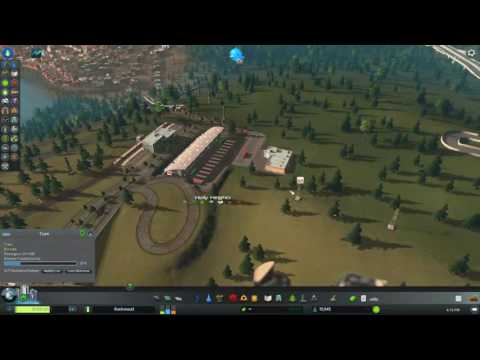 Cities: Skylines - Elevated tram city; private cars banned!