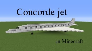 How to build the Concorde jet in Minecraft