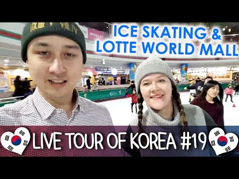 Ice Skating ⛸ at Lotte World & Exploring Lotte World Mall - 🇰🇷 LIVE TOUR OF KOREA #19
