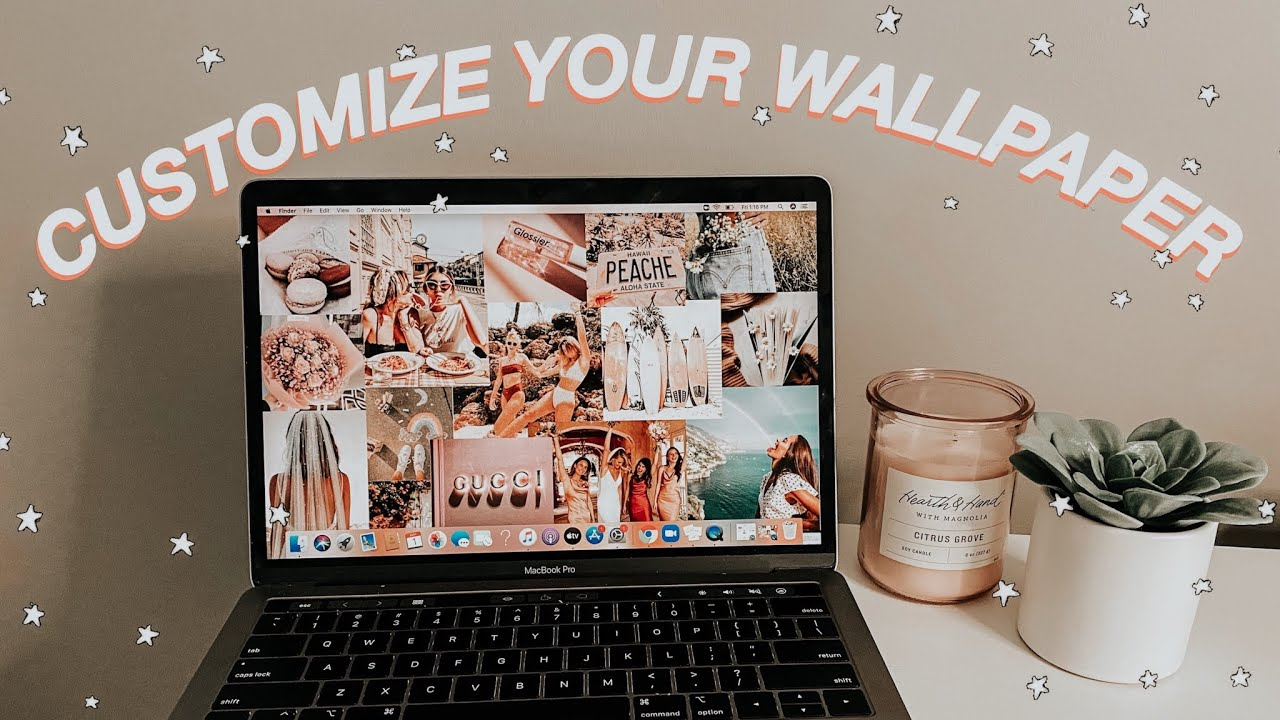 How To Make Custom Wallpaper On Your Macbook How To Customize Your Macbook Youtube