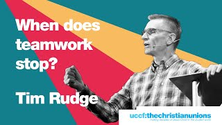 Forum '19: Tim Rudge - When Does Teamwork Stop? - Talk 3