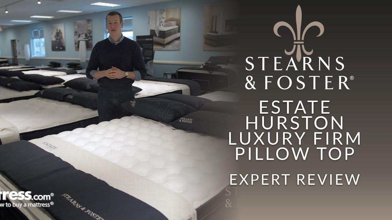 stearns foster estate hurston luxury firm euro pillow top mattress expert review