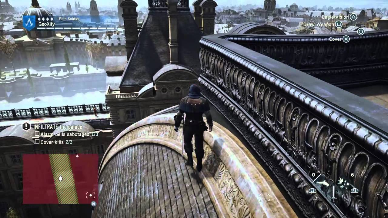 Assassin S Creed Unity Infiltrate The Palace Pt1 Youtube