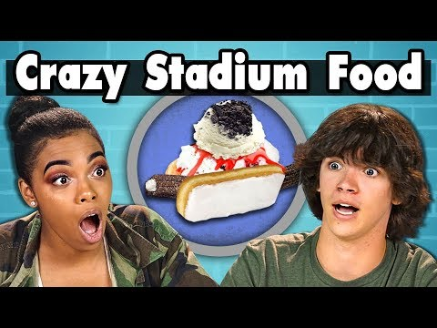TEENS EAT CRAZY STADIUM FOOD! | Teens Vs. Food
