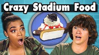 TEENS EAT CRAZY STADIUM FOOD!   Teens Vs. Food