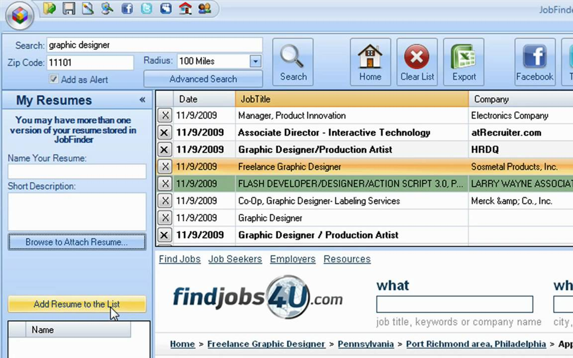 Job Search Software - Job Search Made Easy - YouTube